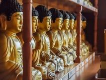 Una fila de estatuas Foto de archivo libre de regalías