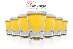 Una fila de la cerveza Imagenes de archivo