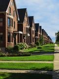 Una fila de las casas de la calle Fotografía de archivo