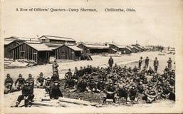 Una fila de los cuartos de los oficiales Fotografía de archivo
