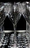 Una fila dei vetri di vino Fotografia Stock Libera da Diritti