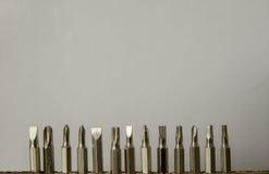 Una fila del cacciavite Fotografie Stock Libere da Diritti