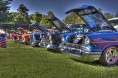 Una fila di Chevys 1957 HDR Immagini Stock Libere da Diritti