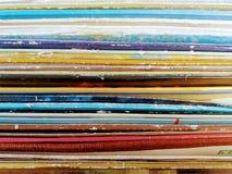 Una fila para arriba llenados de expedientes Imagen de archivo