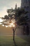 In una fine della cattedrale fotografia stock