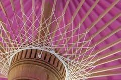 Una fine rosa dell'ombrello su Immagine Stock