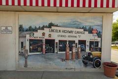 Una fine su di Lincoln Highway Turkey Hill Mural immagini stock