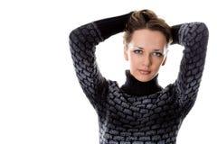 Una fine sul colpo di bella giovane donna Immagine Stock Libera da Diritti