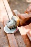 Smerigliatrice di legno. Fotografia Stock Libera da Diritti