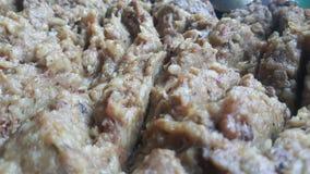Una fine sulla vista di riso bianco cucinato ha chiamato Kichra fotografia stock