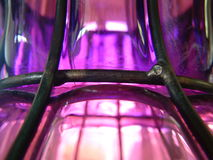 Una fine viola del vaso Fotografia Stock