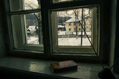 Una finestra al passato Fotografia Stock