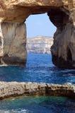 Una finestra azzurrata Immagine Stock