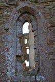 Una finestra di pietra immagine stock