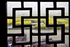 Una finestra di stile cinese Fotografia Stock Libera da Diritti