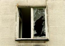 Una finestra rotta Fotografia Stock Libera da Diritti