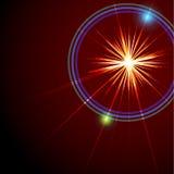 Una flama abstracta de la lente. Ilustración del vector. Foto de archivo