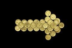 Una flecha de la libra Imagen de archivo