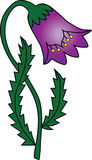 Una flor púrpura Fotografía de archivo