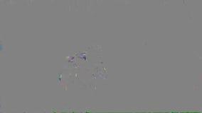 Una flor roja de la amapola con la abeja metrajes