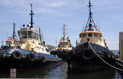Una flota de barcos fotografía de archivo libre de regalías