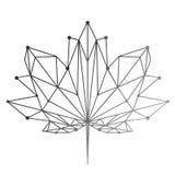 Una foglia di acero dipinta nella tecnica poligonale Segno nazionale del Canada Immagine di vettore per le magliette di progettaz Immagini Stock Libere da Diritti