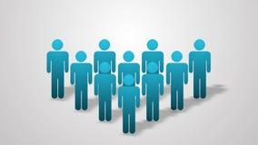 Una folla dell'animazione della gente Grafici di informazioni 4K 3840x2160 illustrazione di stock