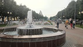 Una fontana Fotografie Stock