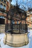 Una fontana al museo delle arti applicate a Vienna Fotografia Stock Libera da Diritti