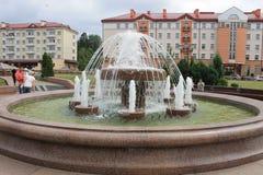 Una fontana a Grodno Immagini Stock