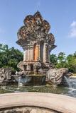Una fontana in una rotonda con le statue ind? fotografie stock libere da diritti