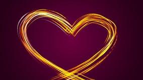 Una forma astratta del cuore disegnata con le particelle illustrazione vettoriale