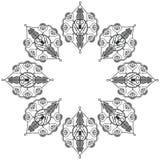 Una forma di due foglie ispirata tramite il tatuaggio del hennè Immagine Stock Libera da Diritti