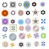 Una forma di trentasei elementi di logo Immagine Stock