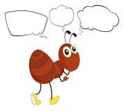 Una formica marrone con i pensieri vuoti illustrazione vettoriale