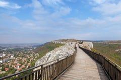 Una fortezza medioevale Ovech in Bulgaria Immagine Stock