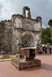 Una fortificazione di Famosa, Malacca, Malesia Fotografia Stock Libera da Diritti