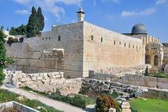 Jerusalén vieja la Explanada de las Mezquitas Foto de archivo libre de regalías