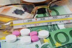 Atención sanitaria costosa Imagen de archivo libre de regalías