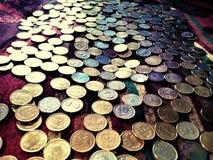 Una foto dei lotti delle monete fotografia stock