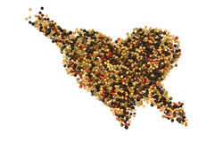 Una foto del primo piano del cuore del pepe Fotografie Stock