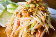 una foto della papaia, di alimento tailandese Fotografia Stock