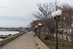 Una foto della valle del mare in Pomorie, Bulgaria fotografia stock