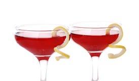 Una foto di due cocktail cosmopoliti Fotografia Stock Libera da Diritti