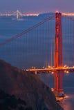 Una foto di due ponti | Golden Gate e baia Fotografia Stock Libera da Diritti