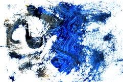 Una foto di una pittura astratta di gouache fotografia stock