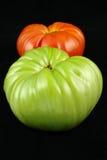 Una foto di riserva di due pomodori isolati su priorità bassa bianca Fotografie Stock Libere da Diritti