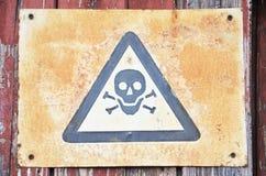 Una foto di un simbolo del pericolo fotografia stock