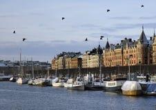 Una foto di uno dei lungonmare di Stoccolma Fotografia Stock Libera da Diritti
