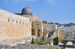 Vecchia Gerusalemme Temple Mount Immagini Stock Libere da Diritti